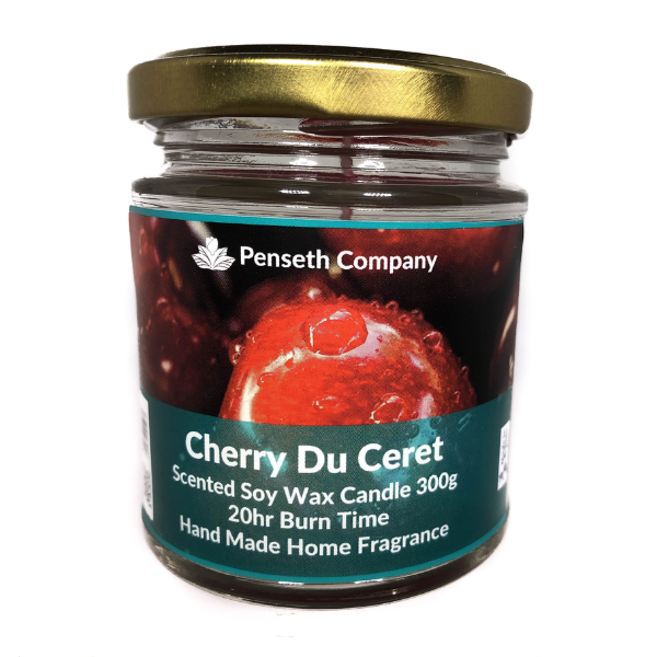 Cherry Du Ceret Scented Candle From The Penseth Company