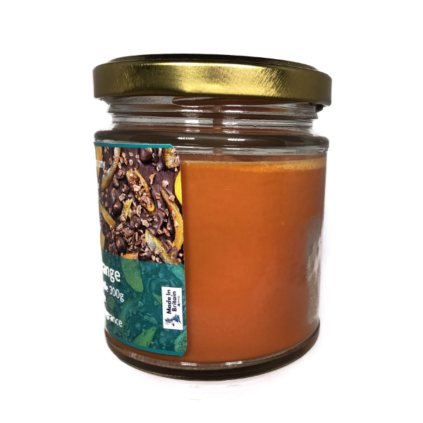 chocolate orange scented candle from the penseth company 3.png