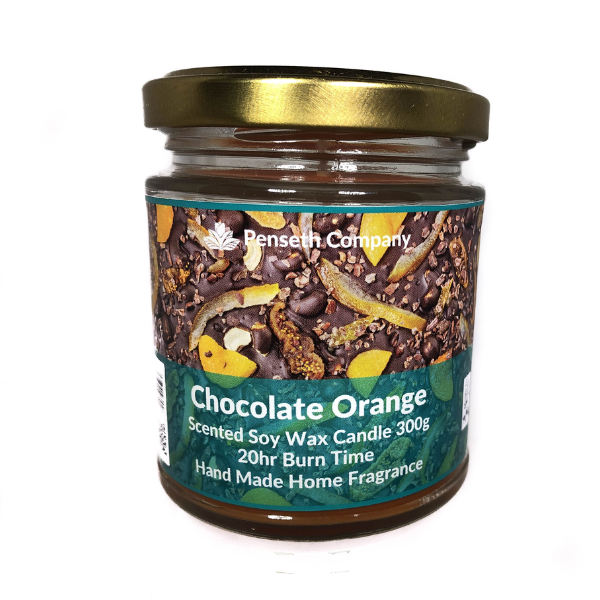 Chocolate Orange Scented Candle From The Penseth Company
