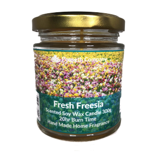 Fresh Freesia Scented Candle From The Penseth Company