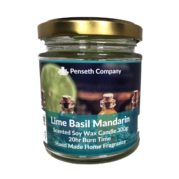 Lime Basil Mandarin Scented Candle From The Penseth Company