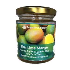 Thai Lime Mango Scented Candle From The Penseth Company